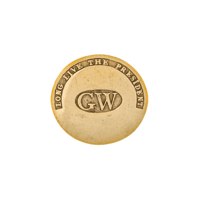 First US promotional product George Washington campaign button